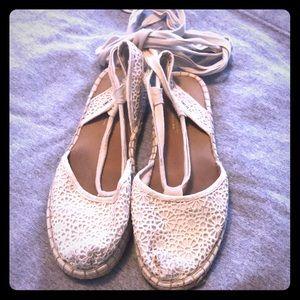 White toms sandals